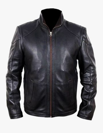 Bruce Willis red 2 leather jacket