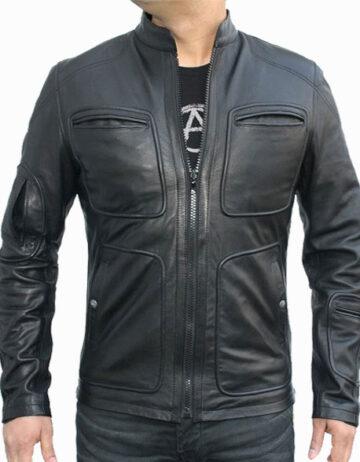 kirk star trek leather jacket