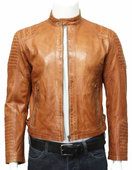 mens-leather-biker-bomber-jacket-tan-1