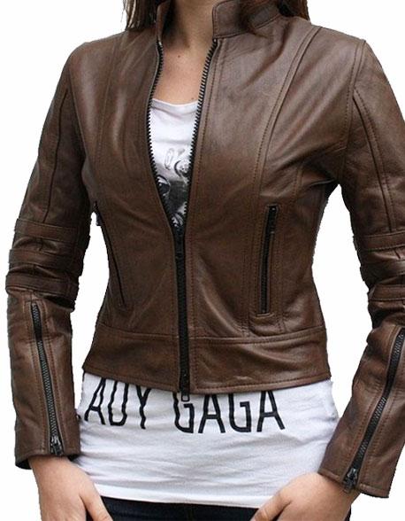 Dark Angel – Antique Brown Women Leather Jacket