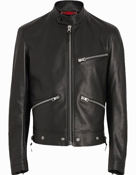 Zip Detail Leather Jacket (3)