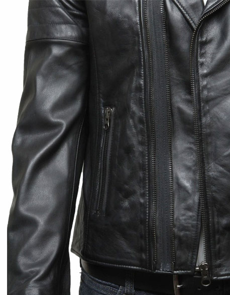 mens-biker-leather-jacket-stylish-ziped-look-black-2