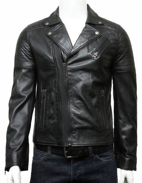 mens-biker-leather-jacket-stylish-ziped-look-black-3