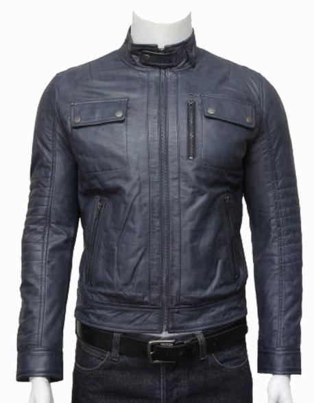 mens-classic-leather-biker-bomber-jacket-grey-5