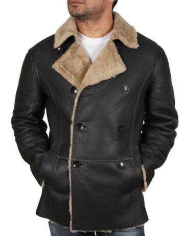 men shearling sheepskin jacket