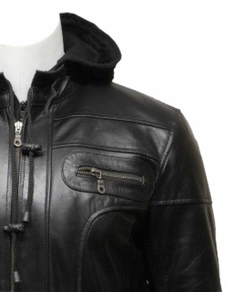 mens-hooded-leather-biker-bomber-jacket-black-(1)