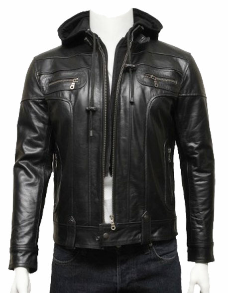 mens-hooded-leather-biker-bomber-jacket-black-2