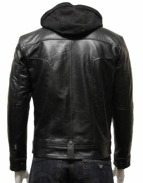 mens-hooded-leather-biker-bomber-jacket-black-3