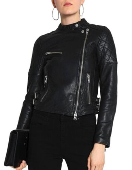 Petite-Snap-Neck-Leather-Moto-Jacket