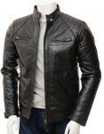 Sibiu Branded Men's Black Leather Jacket