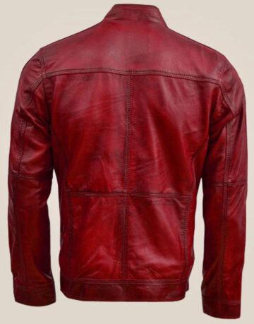 Men's Vintage Maroon Leather Jacket