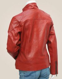 Women's-Lovely-Antique-Style-Maroon-Leather-Jacket2